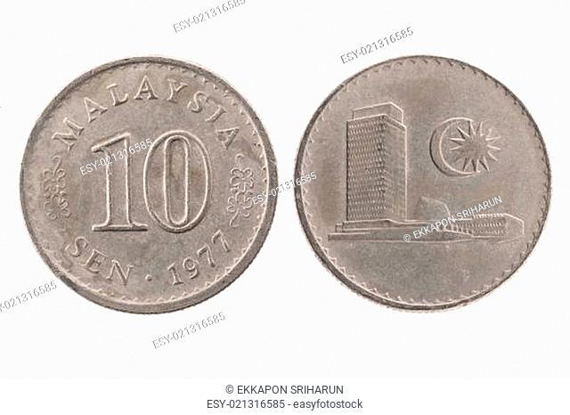 1977 10 sen Malaysia coin