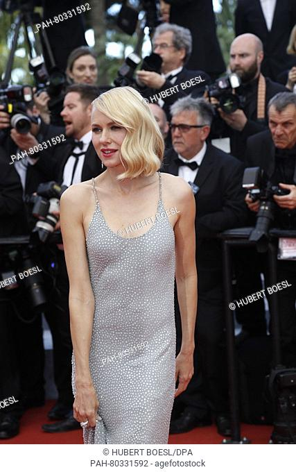 Actress Naomi Watts attends the premiere of Money Monster during the 69th Annual Cannes Film Festival at Palais des Festivals in Cannes, France, on 12 May 2016