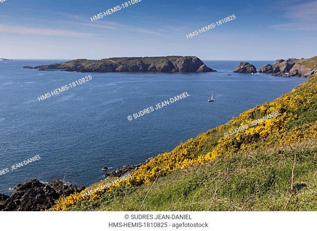 United Kingdom, Channel Islands, Sark island (Sercq) Gouliot Passage