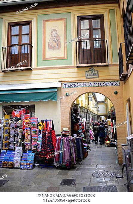 Alcaiceria, craft market in Granada, Spain