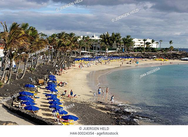 Playa Blanca Beach , Lanzarote, Canary Islands, Spain