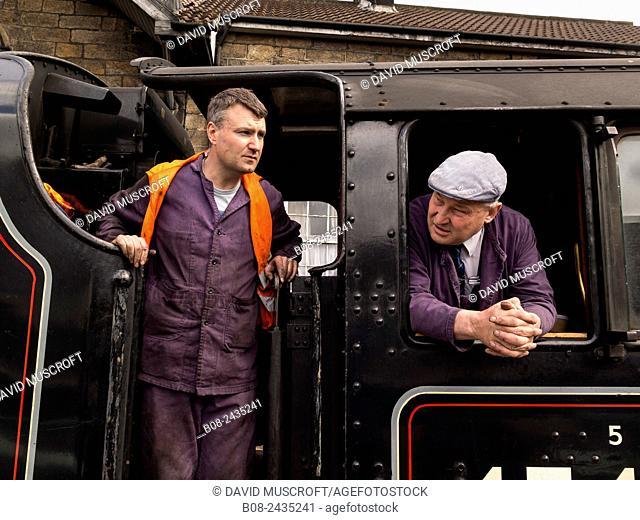 vintage steam locomotive 45428 Eric Treacy at Grosmont station,on The North Yorkshire Moors Railway,Yorkshire,UK