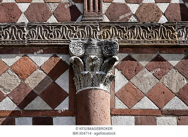 Monastery Lorsch, Carolingian Kings hall, detail of the front, Hesse, Germany