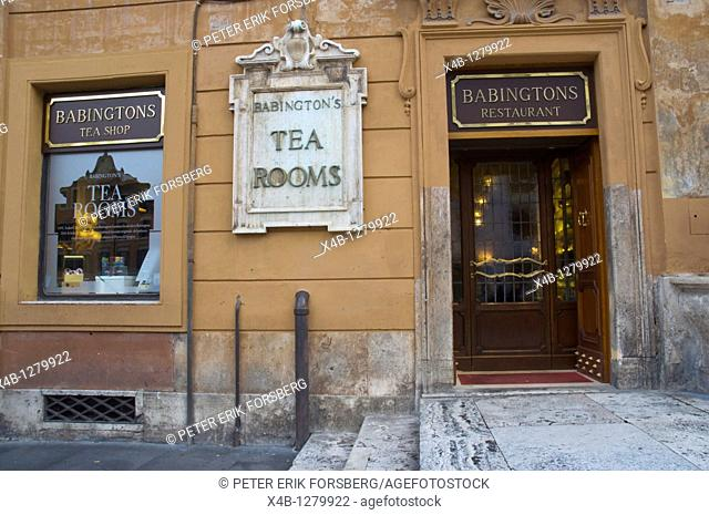Babingtons restaurant and tea room at Piazza di Spagni square old town Rome Italy Europe