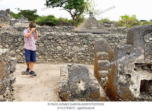 Ruins of the tombs of the city of Bagamoyo. Tanzania