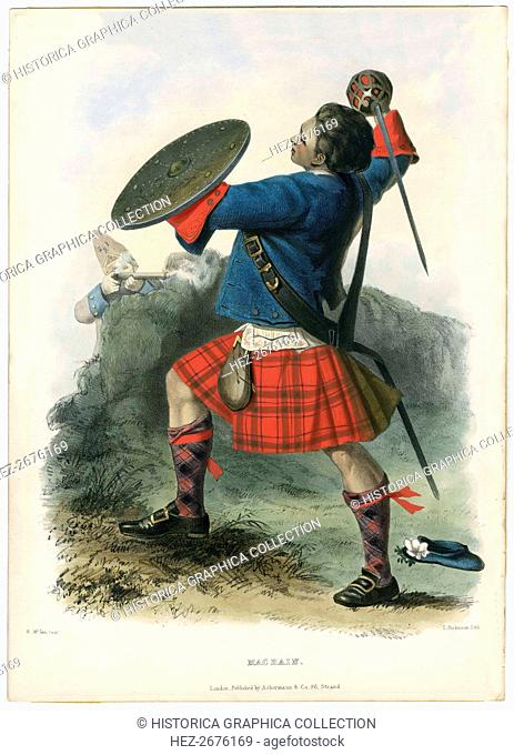 Macbain, from The Clans of the Scottish Highlands, pub. 1845 (colour lithograph)