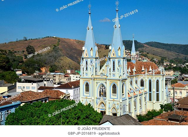 Top view of the Church St. Sebastian in the city center - 08/2015