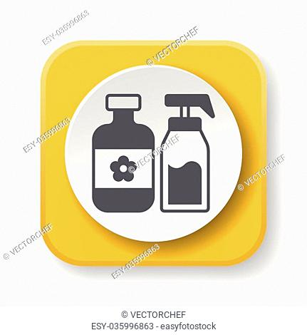 cosmetic bottles icon