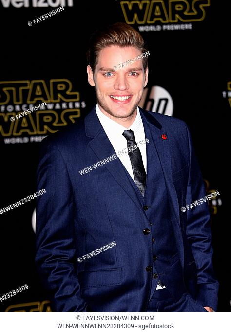 "Premiere Of Walt Disney Pictures And Lucasfilm's """"Star Wars: The Force Awakens"""" Featuring: Domnic Sherwood Where: Hollywood, California"