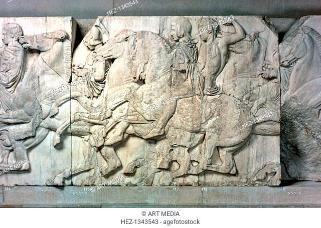 Horsemen from the Parthenon frieze, 447-432 BC. British Museum, London