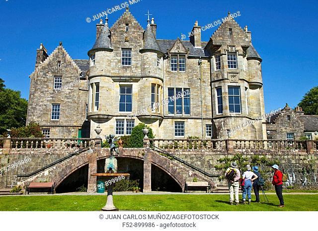 Torosay Castle, Isle of Mull, Inner Hebrides, Scotland, UK