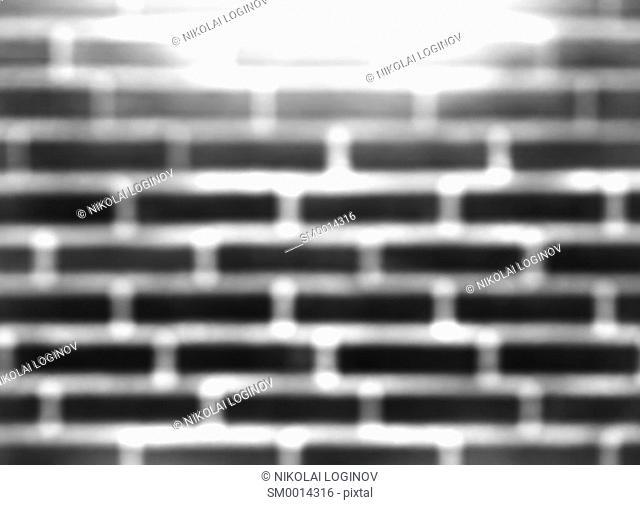 Black and white brick stone wall bokeh background hd