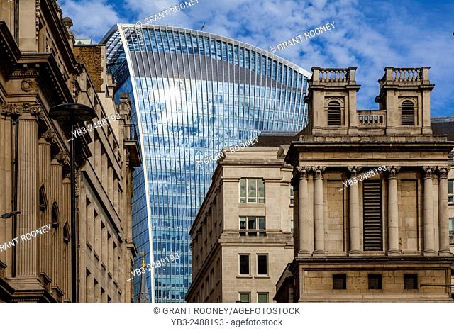 20 Fenchurch Street (akaThe Walkie Talkie Building) and City of London, London, England