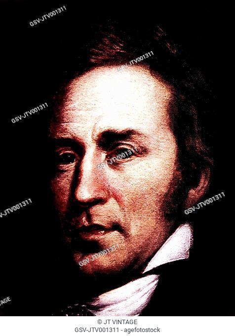 William Clark 1770-1838, American Explorer, Portrait by Charles Willson Peale