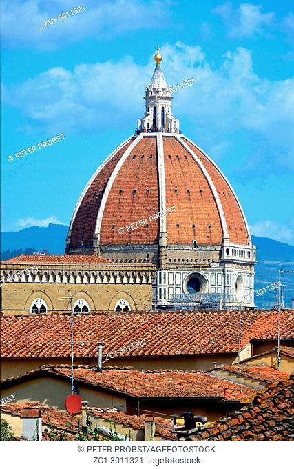 View of the dome of the Cathedral of Santa Maria del Fiore - Italy