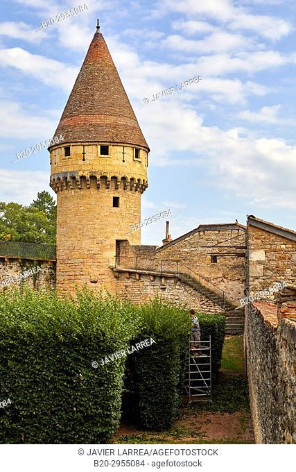 Tour Fabry, Cluny, Saone-et-Loire Department, Burgundy Region, Maconnais Area, France, Europe
