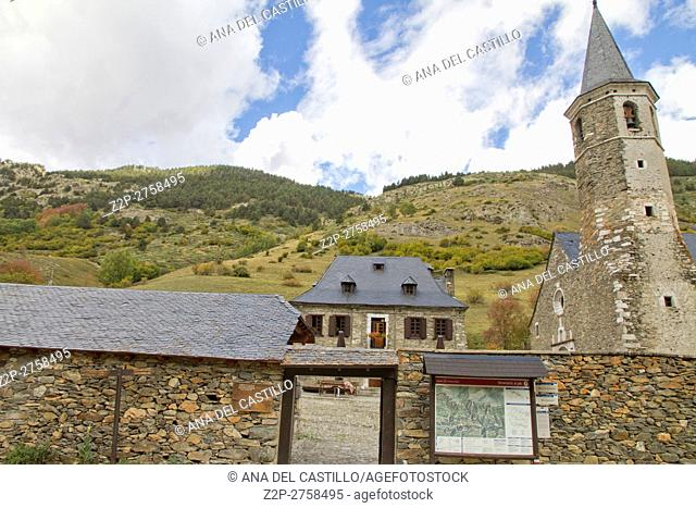 Montgarry sanctuary in Aran valley Beret Spanish pyrenees, Lleida, Catalonia, Spain