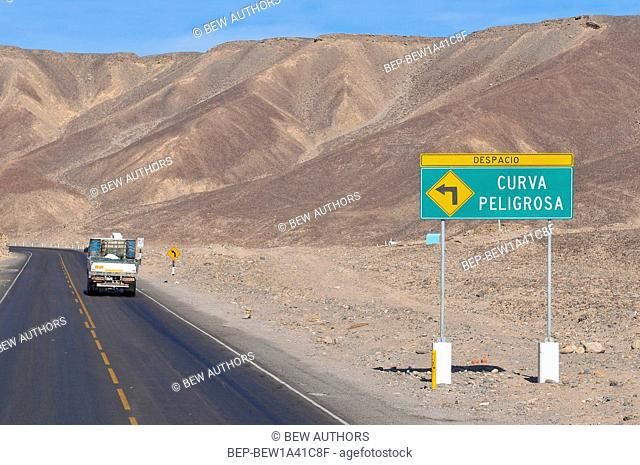 Peru, Truck on the Pan American Highway