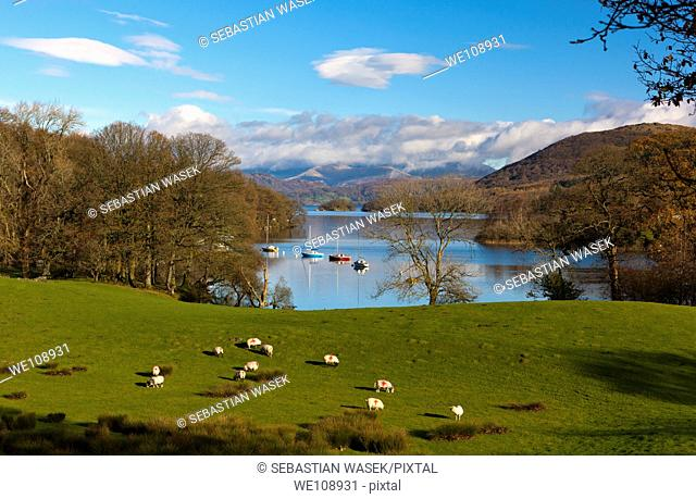 Coniston Water, Lake District National Park, Cumbria, England, Europe