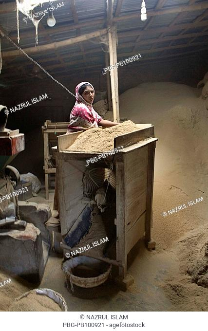 A rural woman works a day long from 6am to 8pm in a rice mill at Keshobpur but earns only 100 taka less then $1 5 per day Many factors affect on female labour...