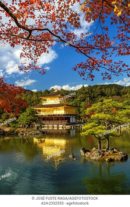 Japan , Kyoto City, The golden temple, Kinkaku-Ji