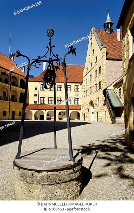 Landshut Lower Bavaria Germany castle Trausnitz inner court
