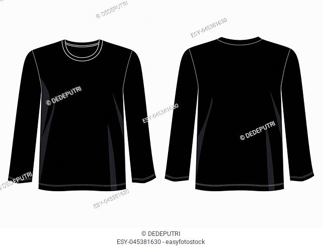 design vector t shirt template collection for t shirt men with color black and white