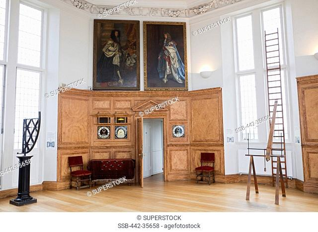 Interiors of the Octagon Room, Flamsteed House, Royal Observatory, Greenwich, London, England