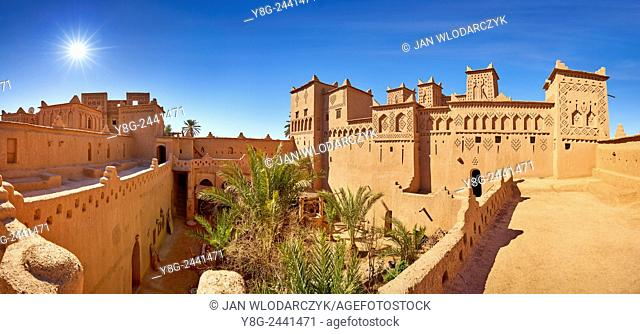 Kasbah Amahidil in Skoura oasis, Ouarzazate district. Morocco