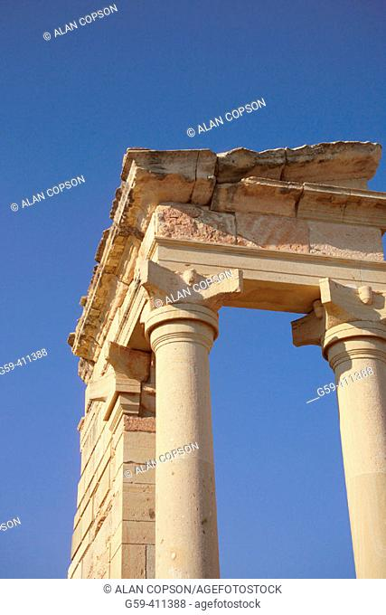 Temple. The Sanctuary of Apollo Hylates. Republic of Cyprus (Greek/Southern Cyprus)