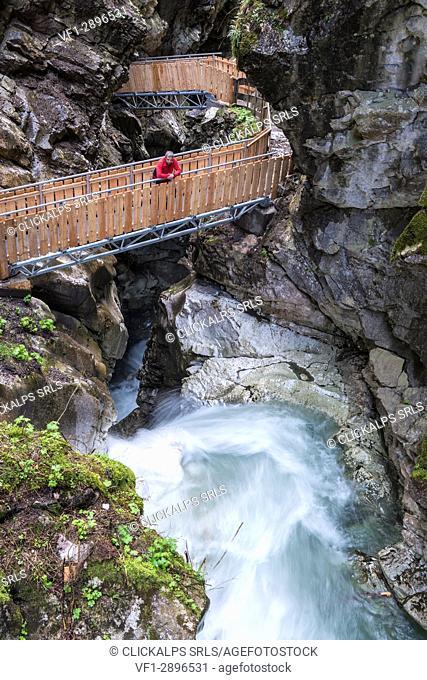 Racines / Ratschings, Stange / Stange, Bolzano province, South Tyrol, Italy. The Gilfenklamm
