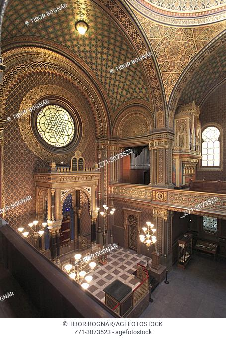 Czech Republic, Prague, Josefov, Spanish Synagogue, interior,