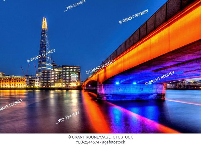 London Bridge and The Shard, London, England