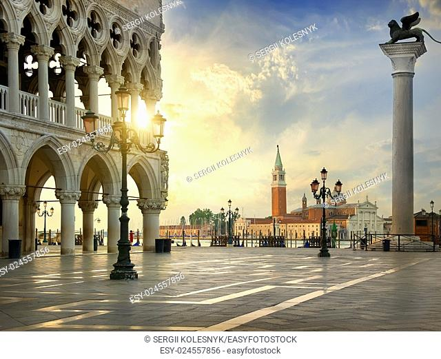 Palace of doges on the square San Marco in Venice, Italy