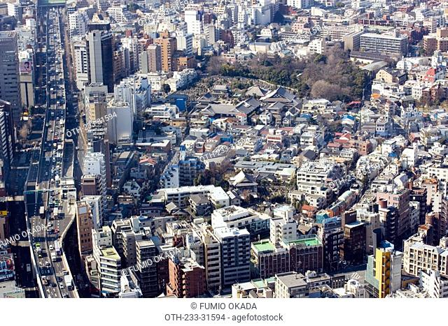 Cityscape from Roppongi Hills, Tokyo, Japan