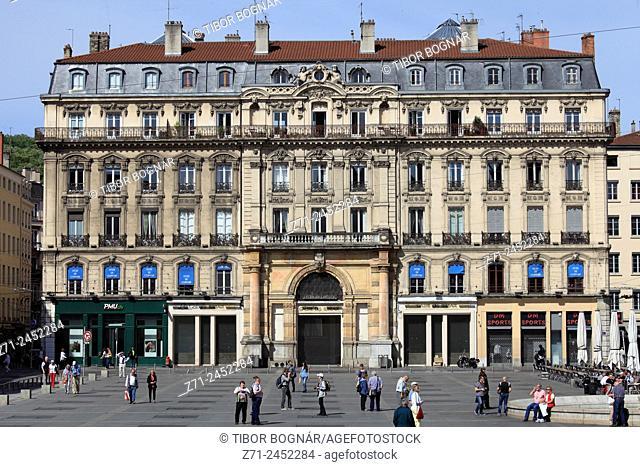 Place des Terreaux, people, Lyon, Rhône-Alpes, France