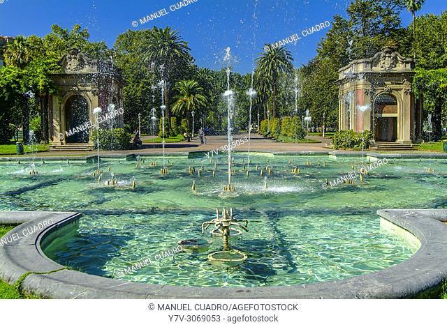 Fuente de la Pérgola, parque de Doña Casilda, Bilbao, Biscay, Basque Country, Spain