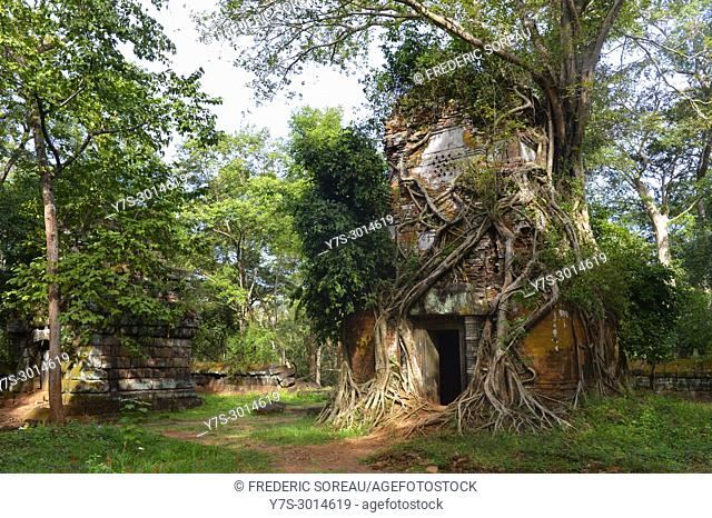 Preset Pram sanctuary entrance in Koh Ker site, Cambodia, South East Asia, Asia