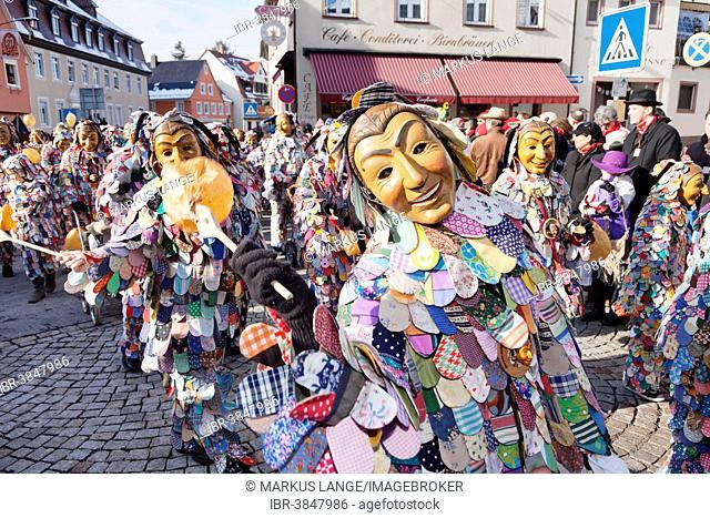 Spättlehansel figures, Swabian-Alemannic Fastnacht festival, Gengenbach, Black Forest, Baden-Württemberg, Germany