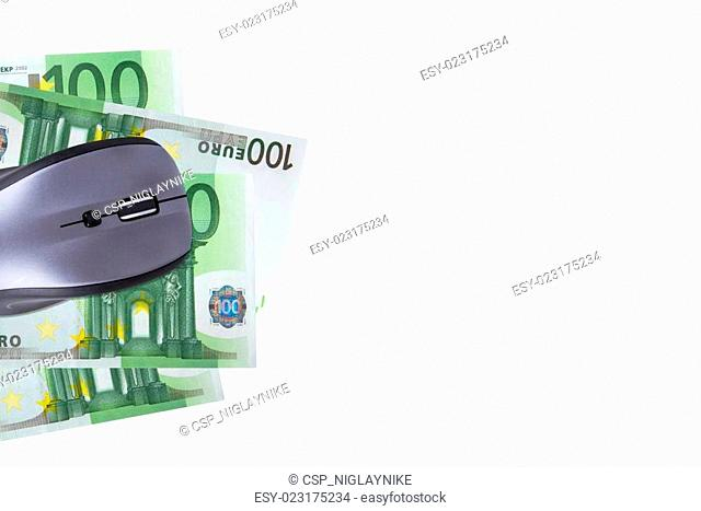 Mouse with Euro Banknote