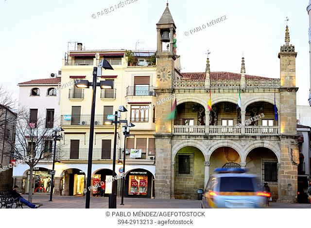 Town Hall in the Main square of Plasencia, Caceres, Spain