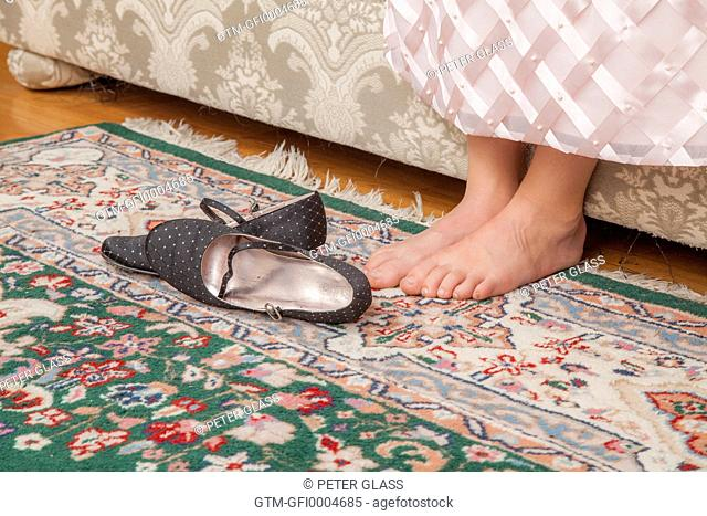 Young girl's bare feet