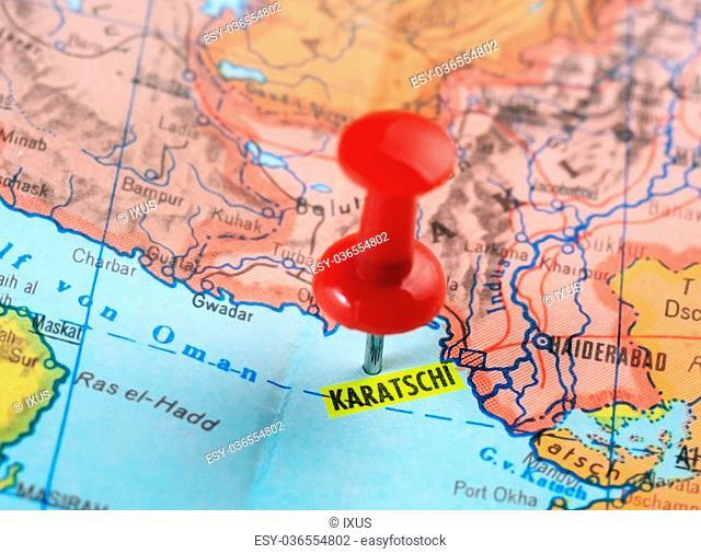 Map Of Asia Karachi.Karachi Map Asia Stock Photos And Images Age Fotostock