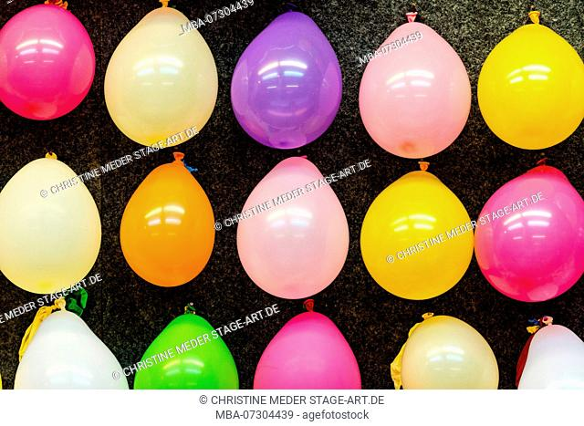 colorful balloons, shooting gallery