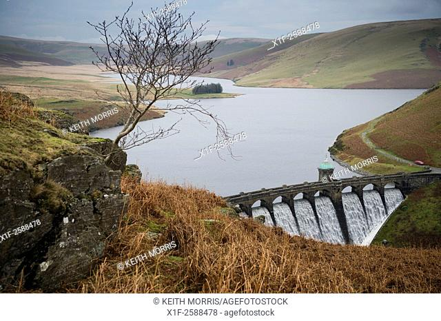 Craig Goch dam and resevoir, Elan Valley water system, designed to provide a secure supply of fresh water to Birmingham.