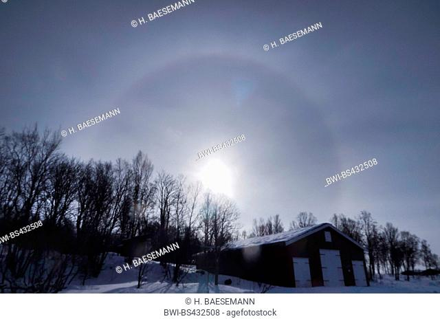 sun halo, Norway, Troms, Tromsoe
