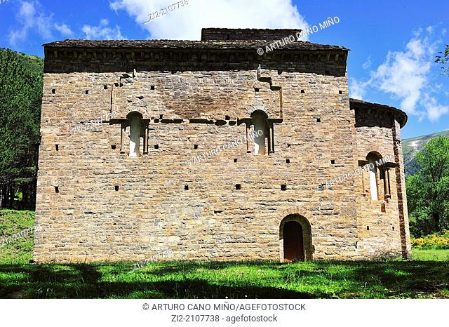 Santa Maria de Iguacel Romanesque church, Garcipollera valley, XI-XIV centuries, Huesca province, Spain