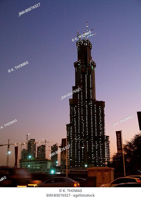 Dubai, construction site Burj Dubai, United Arab Emirates, Dubai