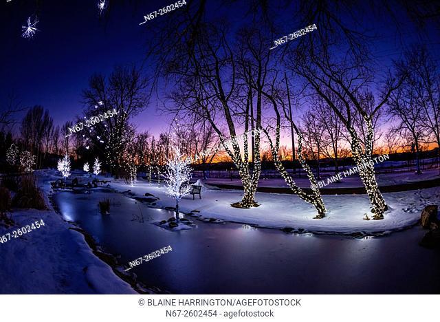 A Hudson Christmas (holiday light show at Hudson Gardens), Littleton, Colorado USA