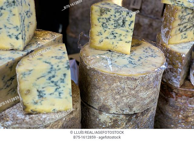 Stilton, cheese in a cheeseshop, England
